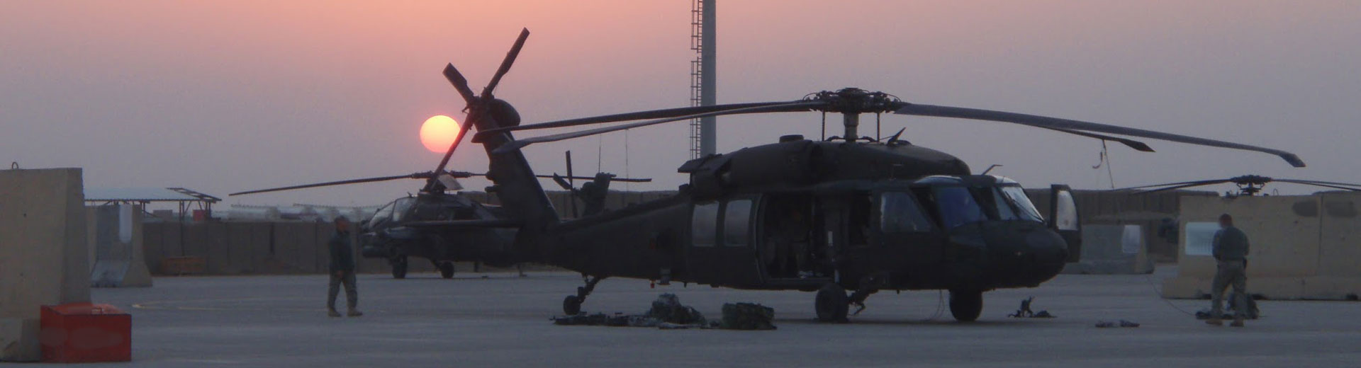 Sunset on UH60