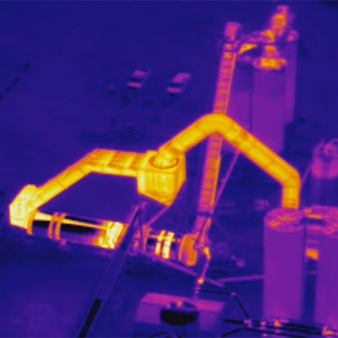Asphalt Plant thermal inspection image iron palate