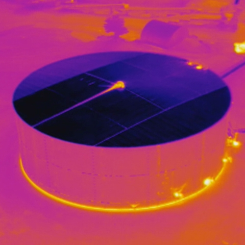 Asphalt Storage Tank Thermal Image